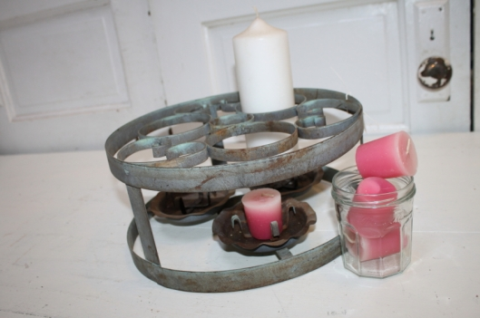 Unique Vintage Metal Candle Holder