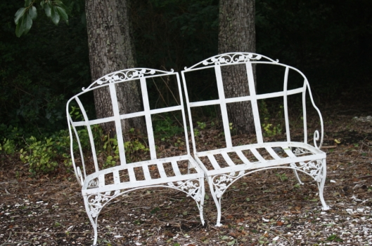 Sweet Vintage Iron Love Seat